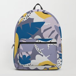 Purple botany with funny strawberries Backpack