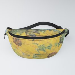 """""""Sunflowers In The Mist"""" Fanny Pack"""