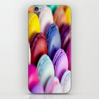 macaroons iPhone & iPod Skins featuring Macaroons by rosita