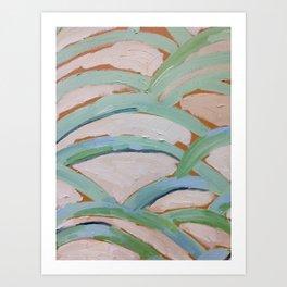 Brush Stokes Leaves Art Print
