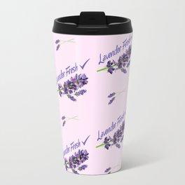 Lavender Fresh Pattern (powder pink) Travel Mug