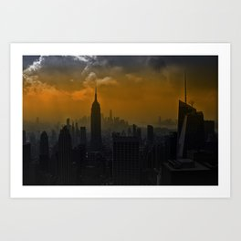 New York red Art Print