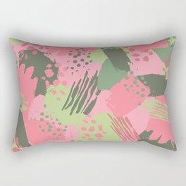 Pink & Green cool brush Rectangular Pillow