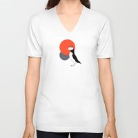 puffin V-neck T-shirts featuring Puffin by Pawprint