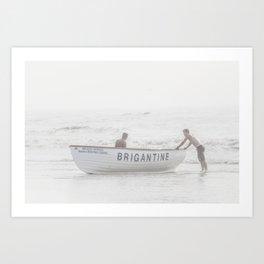 Brigantine Lifeboat Art Print