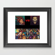Select your Character! Framed Art Print