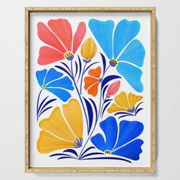 Modern Garden Party / Floral Illustration Serving Tray