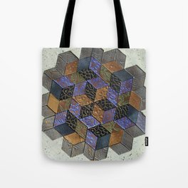 Tumbling Blocks #4 Tote Bag
