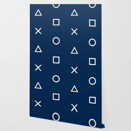 Gamepad Symbols Pattern - Navy Blue Wallpaper