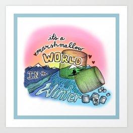 Marshmellow World Art Print