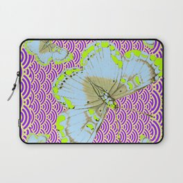 CHARTREUSE-WHITE EXOTIC BUTTERFLY Laptop Sleeve