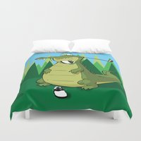 golf Duvet Covers featuring Golf  by Tony Vazquez