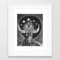 taurus Framed Art Prints featuring TAURUS by Julia Lillard Art