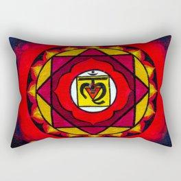 Indian Style Ohm Mandala of Vibrant Color Rectangular Pillow