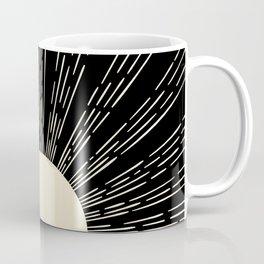 Minimalist sun moon phases art print, mid century modern art, black and white printable wall art set Coffee Mug