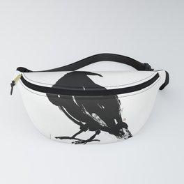 Black Ink Bird Fanny Pack