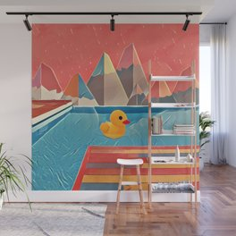 Little duck in the pool Wall Mural
