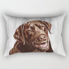 Chocolate Lab Rectangular Pillow