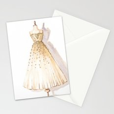 Glow and Cream Watercolor Gown Stationery Cards