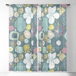 oriental blooms peacock Sheer Curtain