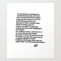 poem Art Prints featuring Poem by Abstract Ink