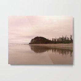 Tow Hill shrouded in Silver, North Beach, Haida Gwaii, BC Canada Metal Print