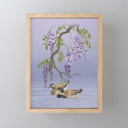 Wisteria and Wild Ducks Framed Mini Art Print
