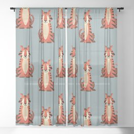 Whimsy Tiger Sheer Curtain