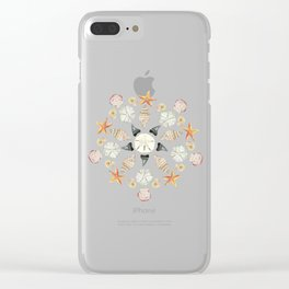 Florida Beachcombing Mandala 1 - Watercolor Clear iPhone Case