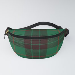 Dark Green Tartan with Black and Red Stripes Fanny Pack