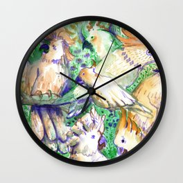 all cockatoos are perfect Wall Clock