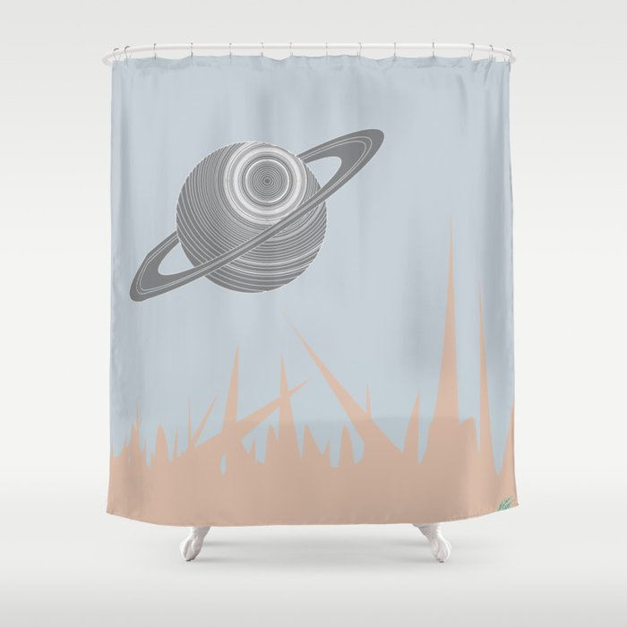 """Saturn Returns"" Shower Curtain"