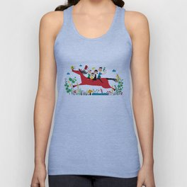 happy horse Unisex Tank Top