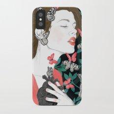Butterflies // you make my heart flutter iPhone X Slim Case