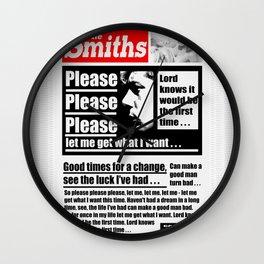 Please Please Please Wall Clock