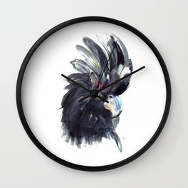 Black Cockatoo Wall Clock