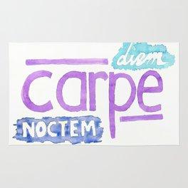 carpe diem / carpe noctem Rug
