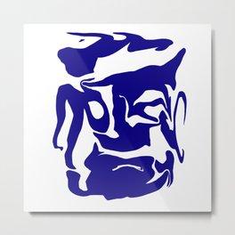 face3 blue Metal Print