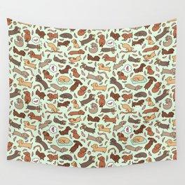 Wiener Dog Wonderland Wall Tapestry