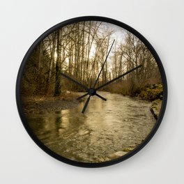 Rios de Oregon 2 Wall Clock