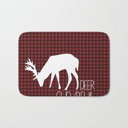 Lumberjack Plaid Deer Bath Mat