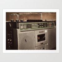 radio Art Prints featuring Radio by Lina Krueck