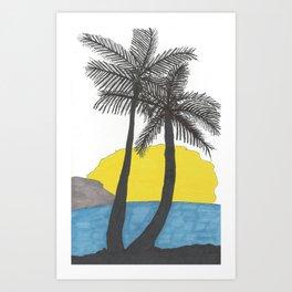 The Beach at Sunrise Art Print