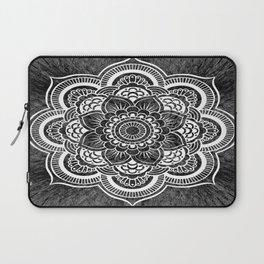 Mandala Slate Gray Colorburst Laptop Sleeve