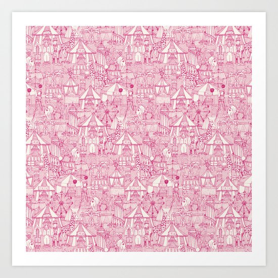 retro circus pink ivory by sharonturner
