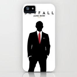 Skyfall, James Bond,minimalist design , alternative poster, Daniel Craig, Javier Bardem, Sam Mende iPhone Case