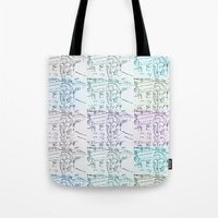 marty mcfly Tote Bags featuring Marty by Kats Illustration
