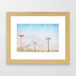 Brooklyn's Eiffel Tower Framed Art Print