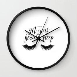 Makeup Quote, Mascara Makes Everything Better, Eyelash Decor, Girls Room Decor Wall Clock