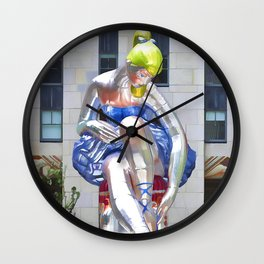 Seated Ballerina at Rockefeller Center 2 Wall Clock